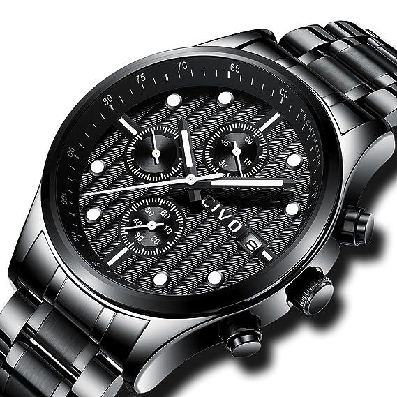CIVO para hombre cronógrafo relojes multifuncional FECHA calendario reloj  de lujo Business Casual para hombre vestido 8ee7ccdafe61