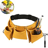 Kids Tool Belt,FiHome Adjustable Children's Carpentry Tool Candy Pouch Heavy Duty Child's Construction Tool Apron for Costumes Dress Up Role Play (Yellow)