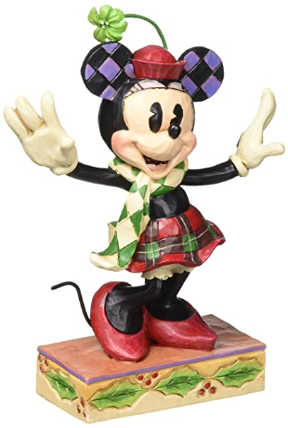 disney traditions by jim shore christmas minnie mouse stone resin figurine 4875