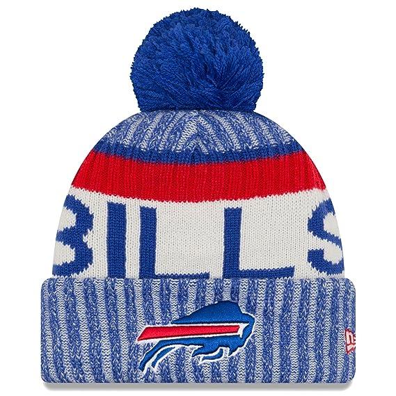 buy popular aa03c 0ce78 ... norway buffalo bills new era 2017 nfl sideline on field sport knit hat  blue af5bb 28375