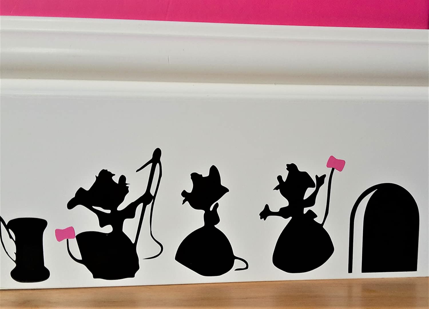 Cartoon Decal Mouse Hole Wall Sticker