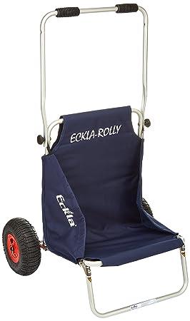 Eckla Beach Rolly - Carrito convertible en silla de playa azul: Amazon.es: Deportes y aire libre