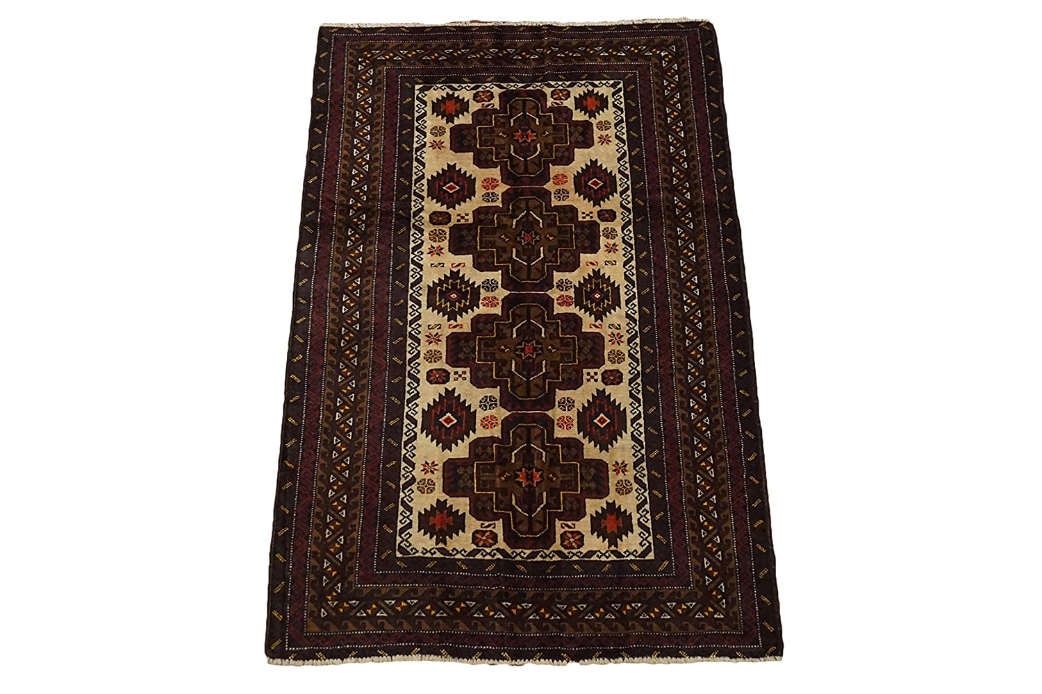 Amazon Com Afghan 4x6 Tribal Hand Knotted Wool Carpet Oriental Area