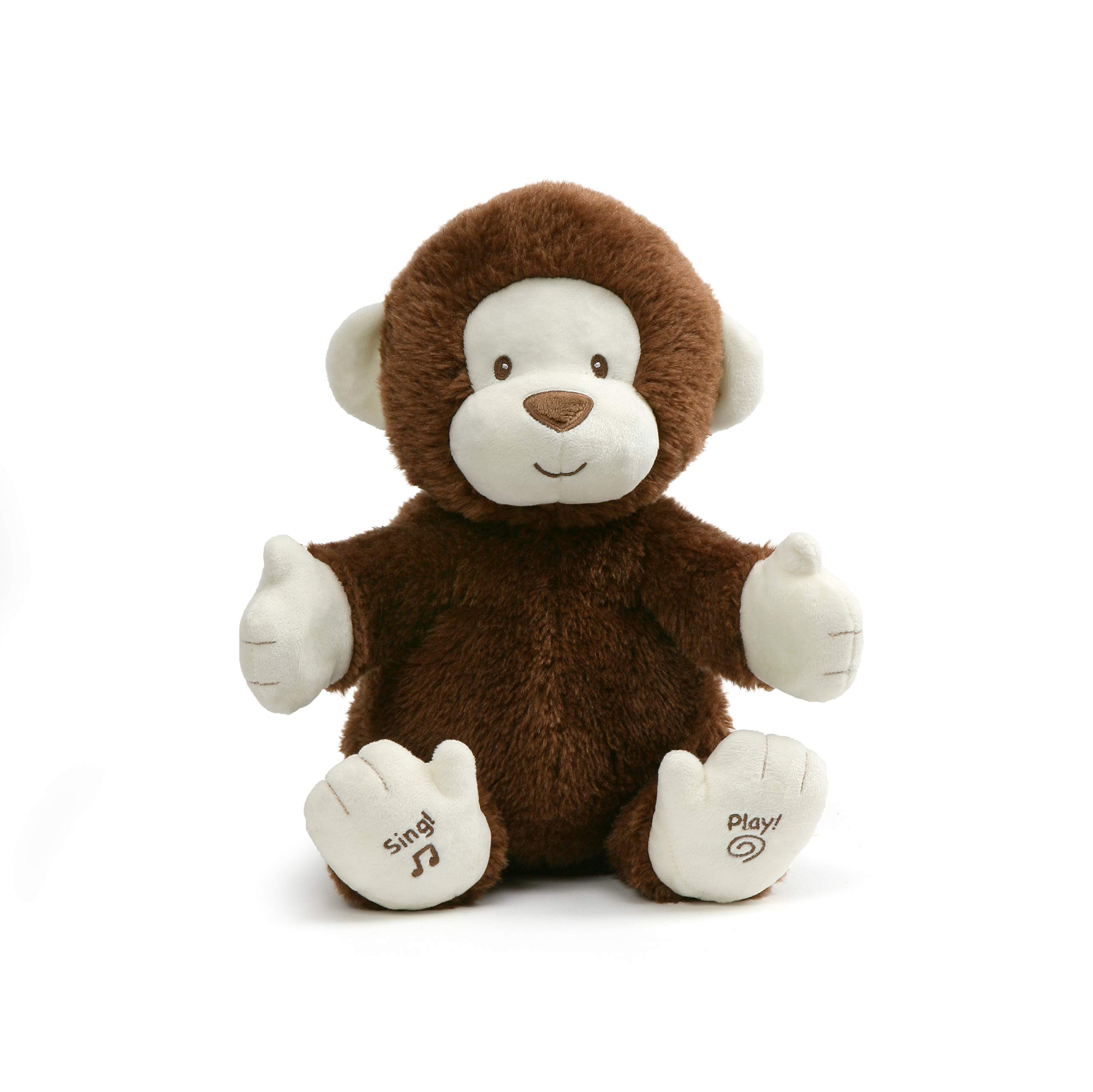 GUND Animated Clappy Monkey Singing and Clapping Plush Stuffed Animal, Brown, 12'', Multicolor by GUND