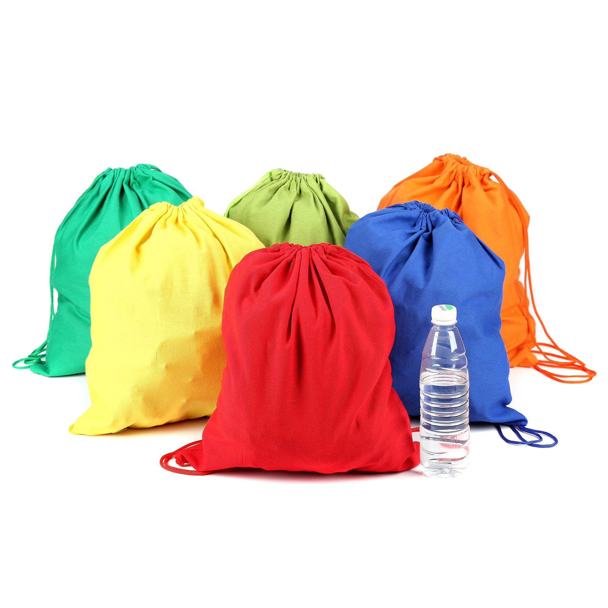 Fun Central BC748 12ct 14.75 Inch Drawstring Backpacks, Drawstring Backpack, Drawstring Backpack For Women, Small Drawstring Backpack, Womens Drawstring Backpack, Drawstring Backpack For Kids-Assorted