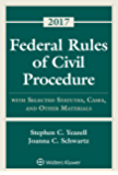 Federal Rules of Civil Procedure: with Selected Statutes, Cases, and Other Materials 2017 Supplement (Supplements)