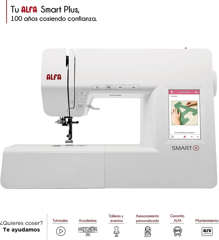 Alfa Smart Plus - Máquina de Coser electrónica, Blanco, 100 Puntadas: Amazon.es: Hogar