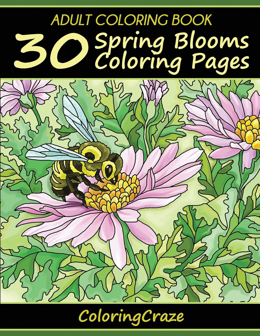Amazon Com Adult Coloring Book 30 Spring Blooms Coloring Pages