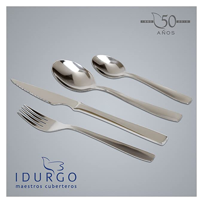 Idurgo BASIC - Set de 24 Cubiertos en Acero Inoxidable 18/10 ...