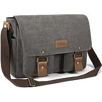 Plambag Basic Canvas Messenger Bag, Schoolbag Shoulder Crossbody Bag