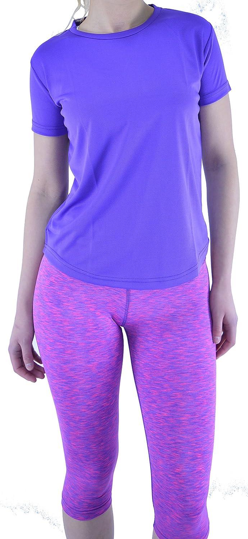 T-Shirt f/ür Damen f/ür /Übungen geeignet atmungsaktiv Farbauswahl