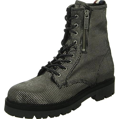 c4ba90d5d Tommy Hilfiger Women s Fw0fw01750 Boots Silver Metal  Amazon.co.uk  Shoes    Bags