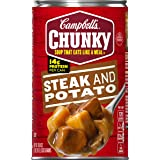 Campbell's Chunky Steak & Potato Soup, 18.8 oz. Can (Pack of 12)