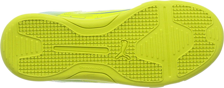 Puma Meteor Sala LT Jr, Botas de fútbol Niños^Niñas, Amarillo-Gelb (Sulphur Spring-cloisonné 02), 38,5 EU: Amazon.es: Zapatos y complementos