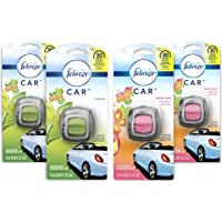 4 Count Febreze Car Air Freshener and 2 Gain Island Fresh scents