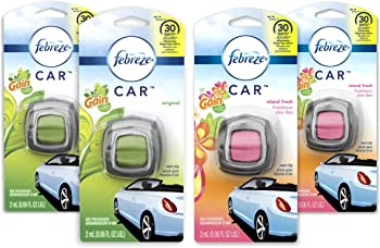 4-Count Febreze Car Air Freshener and 2 Gain Island Fresh scents