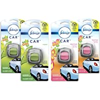 Febreze Car Air Freshener, 2 Gain Original and 2 Gain Island Fresh scents (4 count, .06 fl oz)