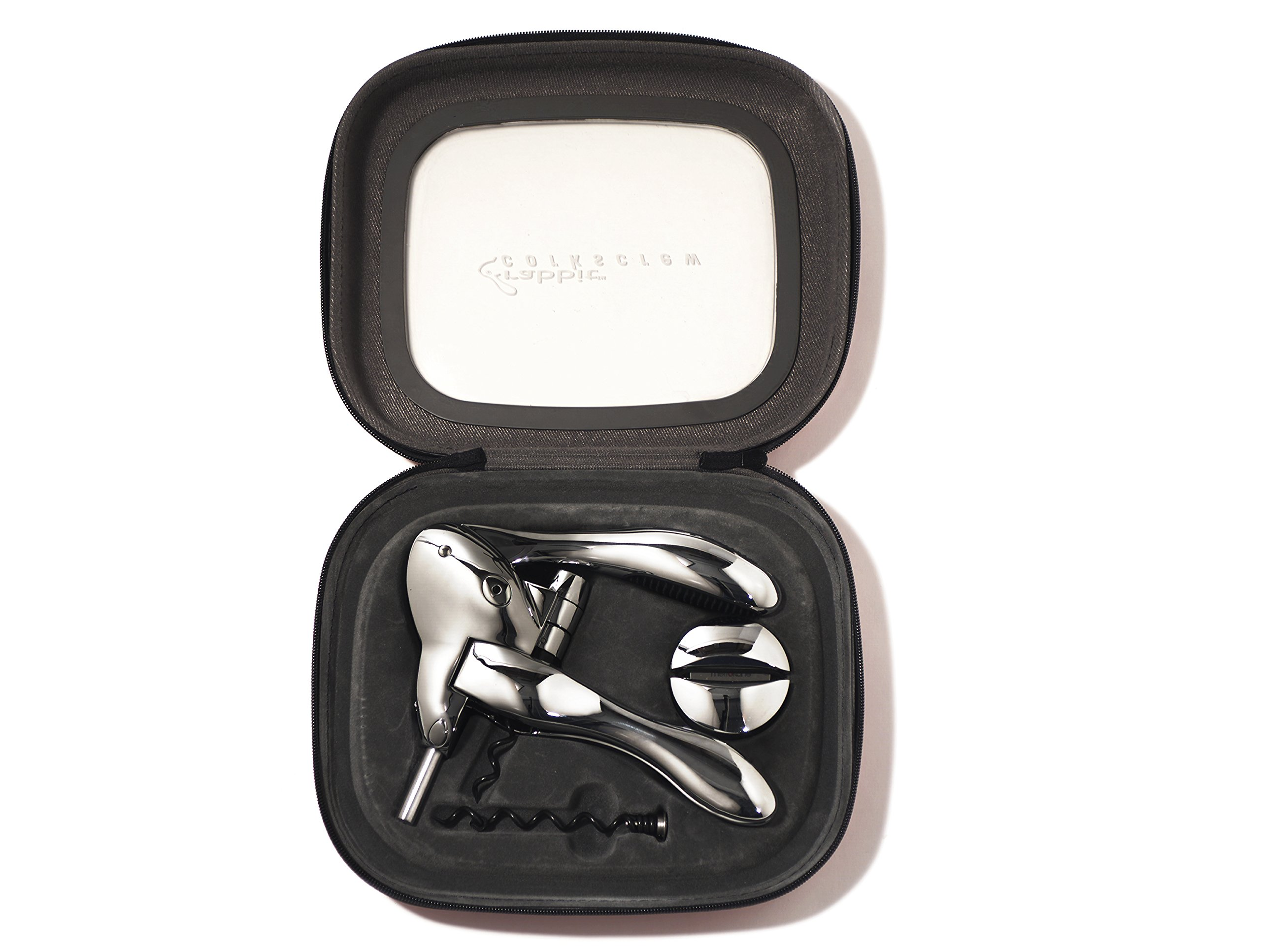 Rabbit Zippity Polished Sterling Corkscrew in EVA Storage Case (Black) by Rabbit (Image #2)