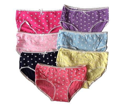 Las niñas adolescentes Ropa interior Paquete de 7 Color mezclado calzoncillos/Braguitas (146-