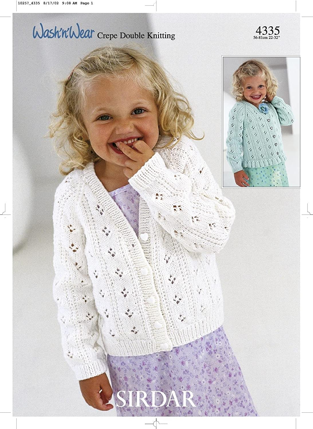 Sirdar Country Style DK Knitting Pattern - 2436 Girl\'s Cardigan ...