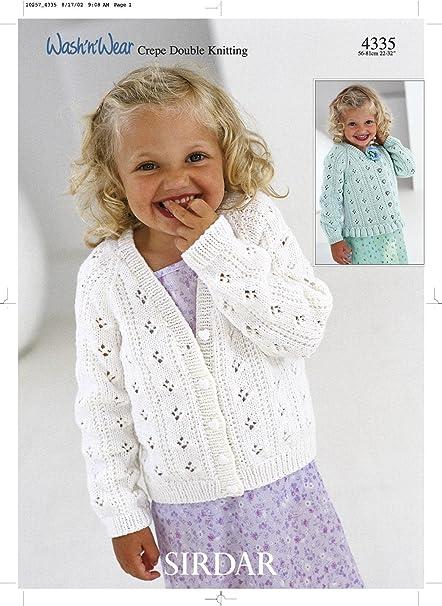 Sirdar Wash N Wear Dk Childrens Knitting Pattern 4335 Amazon