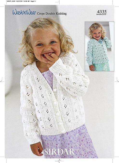 44e91837234 Sirdar Wash N Wear DK Children s Knitting Pattern 4335  Amazon.co.uk ...