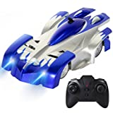 SGILE 4CH Remote Control RC Wall Climbing Climber Rocket Toy Car Racer (Version 2!!), Christmas Gift for Kids Children Boys (Blue)