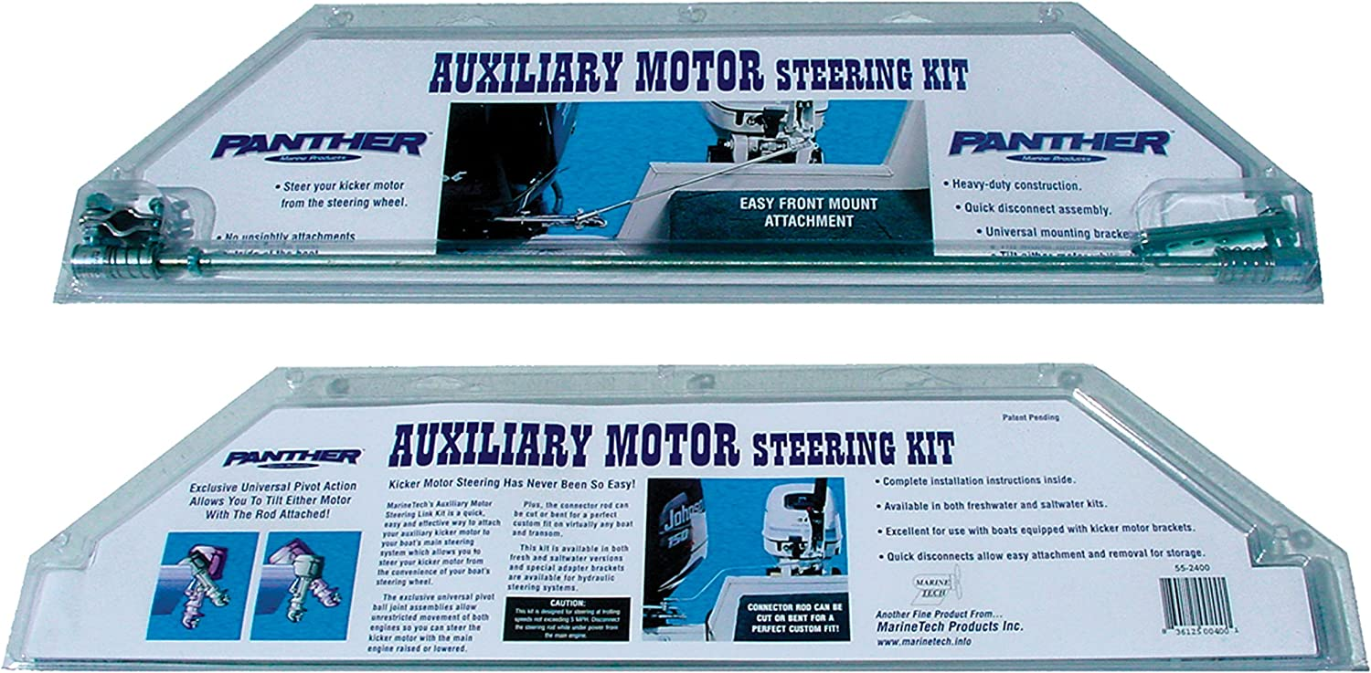 Panther Marine 55-2600 Auxiliary Motor Steering Kit - Stainless Steel