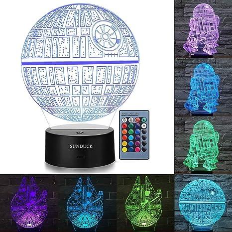 Amazon.com: Sunduck - Lámpara de noche 3D con diseño de ...