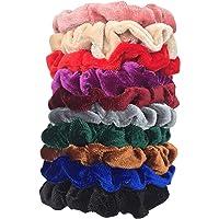 DA2S Scrunchies for Hair Velvet Elastic Ties Women 10pcs