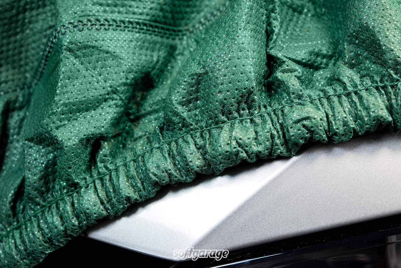 SOFTGARAGE 3-lagig gr/ün Indoor Outdoor atmungsaktiv wasserabweisend Car Cover Vollgarage Ganzgarage Autoplane Autoabdeckung