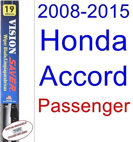 Amazon.com: 2008-2015 Honda Accord Wiper Blade (Passenger) (Saver Automotive Products-Vision Saver) (2009,2010,2011,2012,2013,2014): Automotive