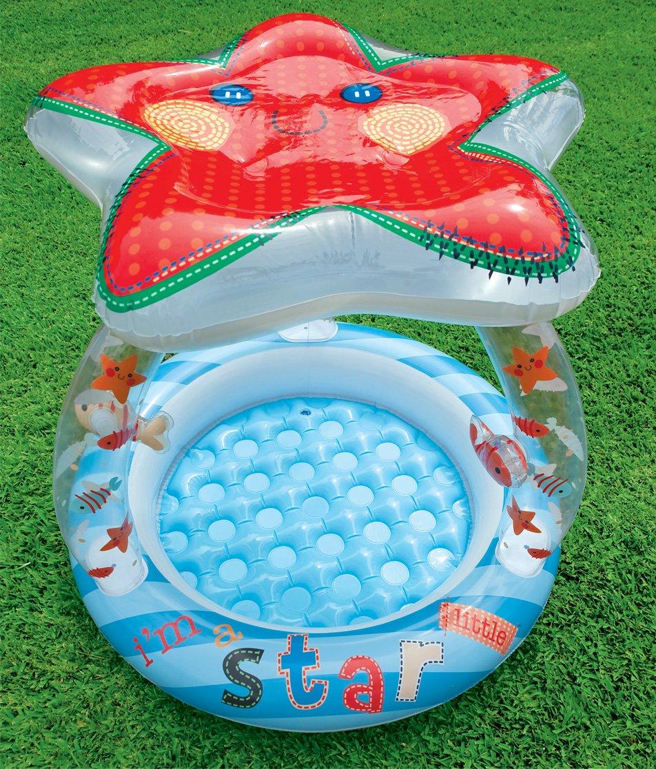 INTEX Babypool Seestern Planschbecken Pool Schwimmbecken mit Sonnendach Kinder