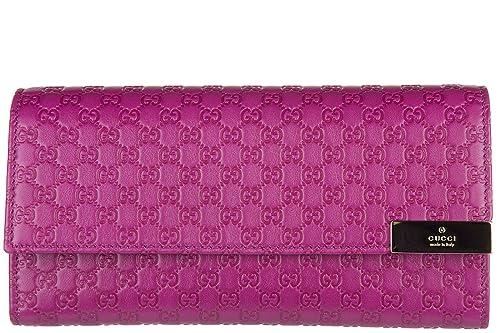 Gucci monedero cartera bifold de mujer en piel nuevo microguccissimo fuxia: Amazon.es: Zapatos y complementos