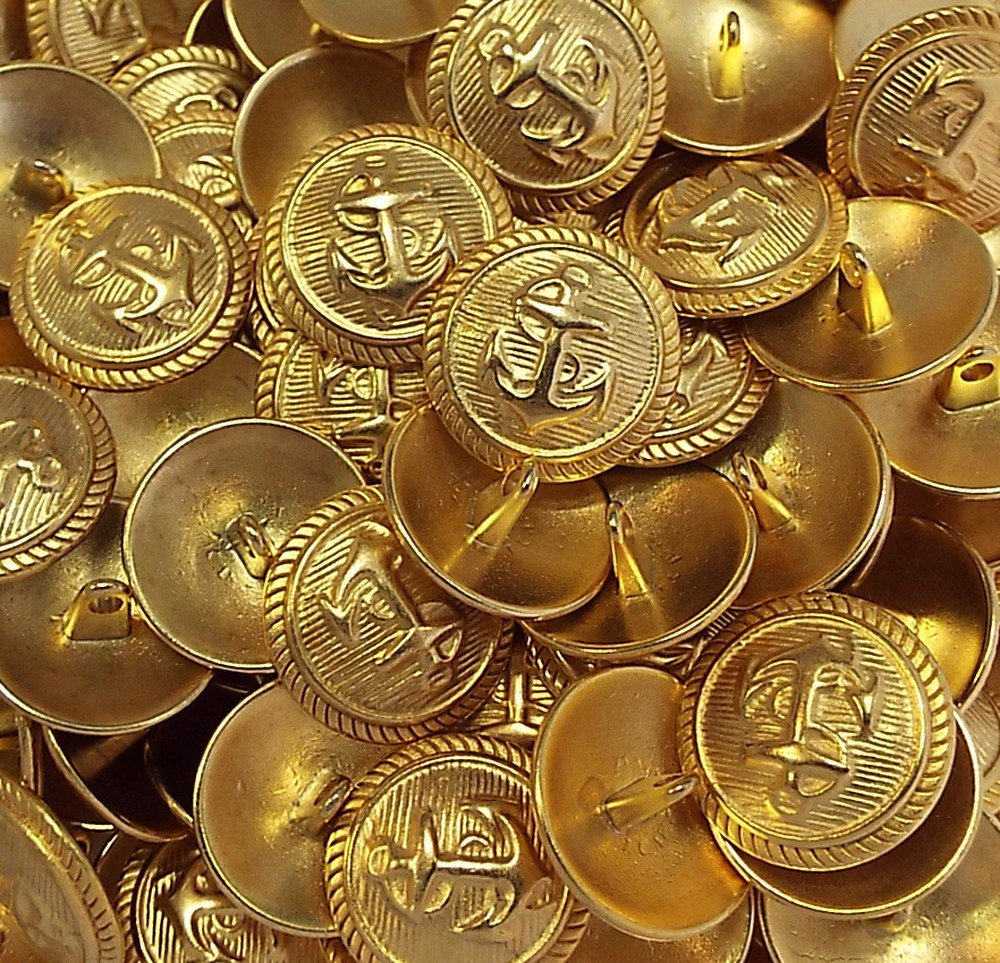 5 Kn/öpfe Anker gold 20 mm