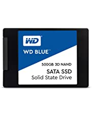 Western Digital WDS500G2B0A WD Blue 3D NAND Internal SSD 2.5 Inch SATA, 500 GB