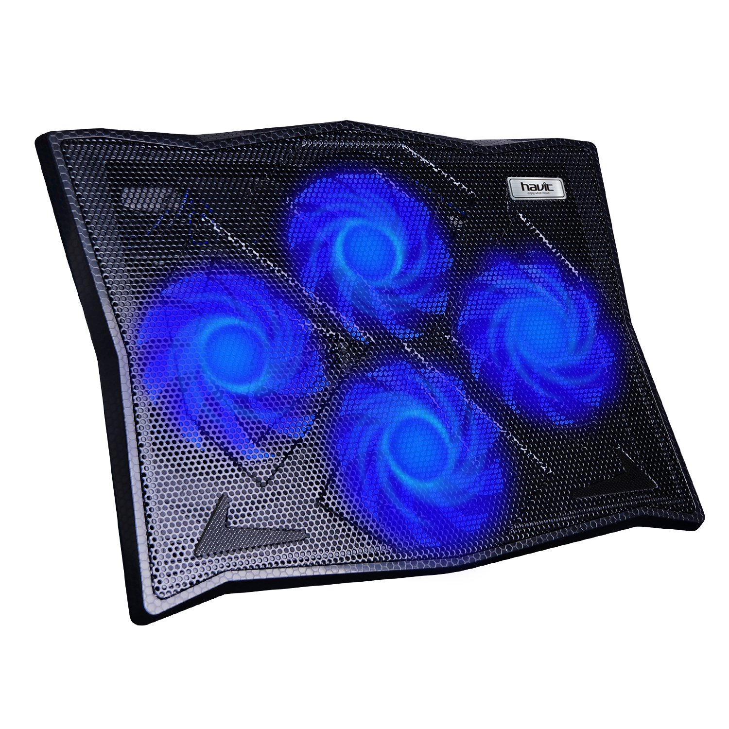 HAVIT HV-F2063A Cooling Pad for 14-17 Inch Laptops with Four 110mm Fans at 1100 RPM (Black)