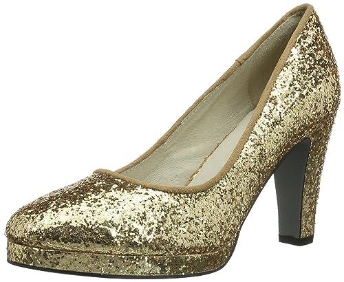 promo code 941c9 fb2a6 Lise Lindvig MERLE, Scarpe col tacco Donna, Oro (Gold (Gold ...