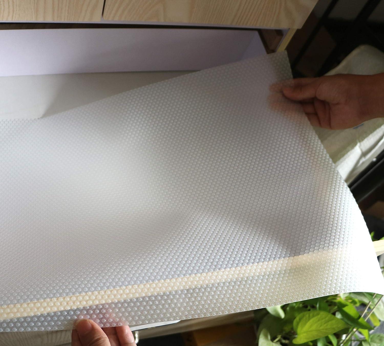 IMS 60 x 500CM EVA Plastico Protector para Cocina Cajones Alfombras Antideslizante Non Adhesivo para Nevera Mueble Transparente Revestimiento Antideslizante para Caj/ón Alfombrillas para Fregadero
