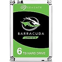 """Seagate Barracuda 6TB Unidad de - Disco duro (3.5"""", 6000 GB, 7200 RPM, Serial ATA III, 256 MB, Unidad de disco duro)"""