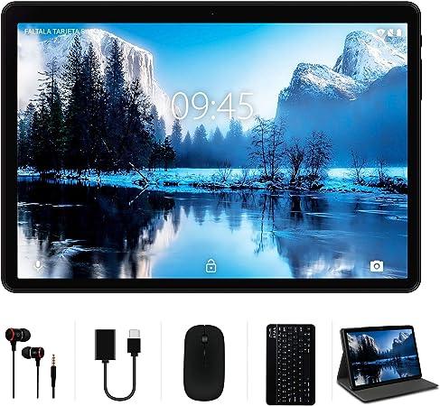 Tablet 10 Pulgadas, Android 10.0 YESTEL Tablets, 4 GB de RAM, 64 GB Ampliables hasta 128 GB, Procesador Quad-Core, Pantalla HD IPS, Dual SIM LTE/WiFi, ...