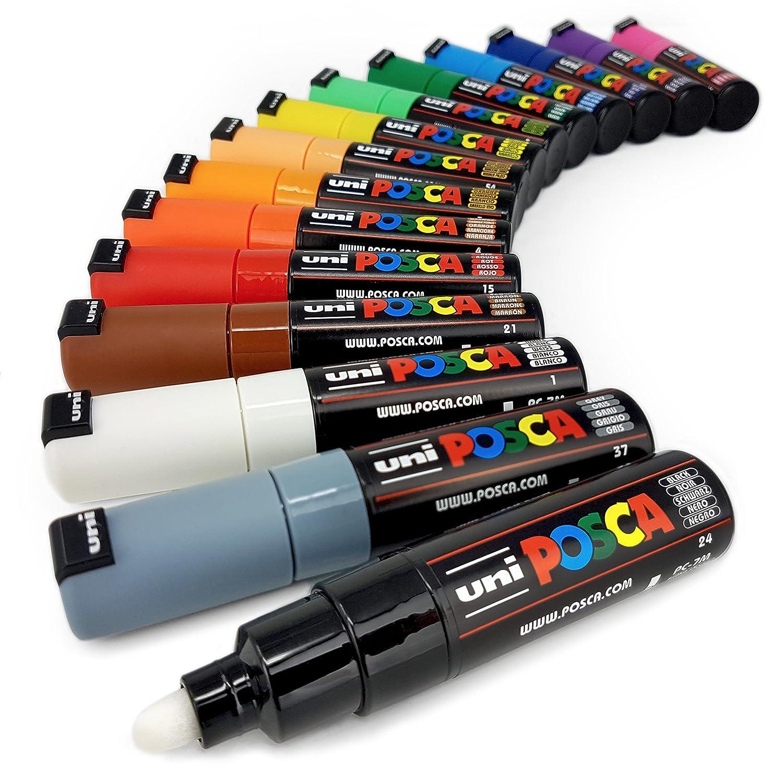 Uni Posca Paint Marker Pens PC-3M Full Professional Set of 32 in Posca Tub
