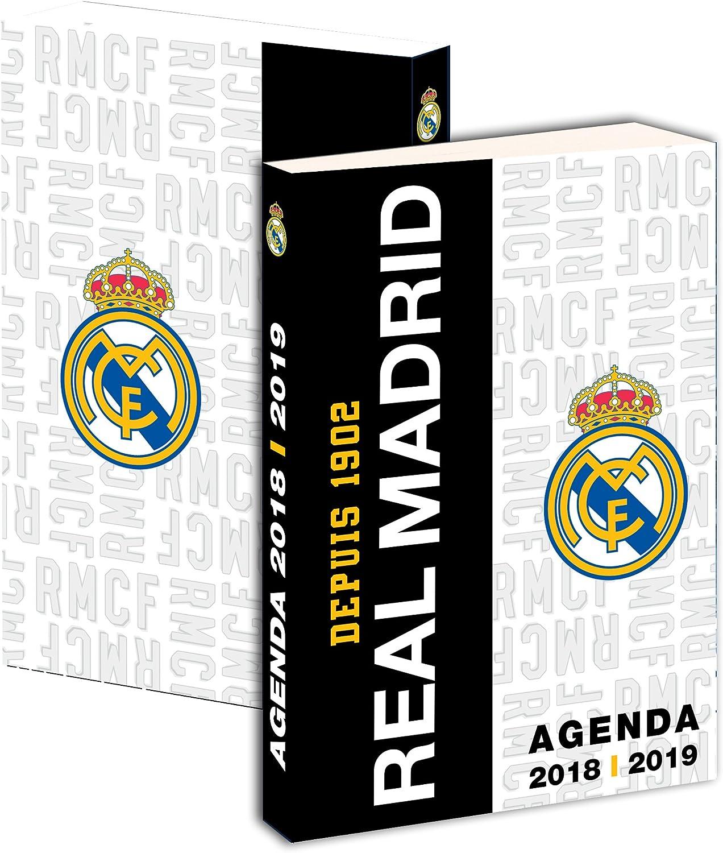 REAL MADRID-Agenda escolar, colección, 2015 y 2016-Estuche sco...: Amazon.es: Oficina y papelería