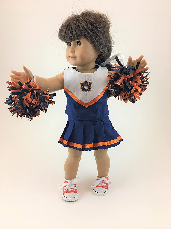 18 Doll Cheerleading Outfit w/Auburn Logo
