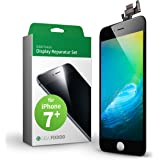 GIGA Fixxoo iPhone 7 Plus Screen Replacement Complete Kit Black LCD; with TouchScreen, Retina Display Glass, Camera & Proximity Sensor - Easy Repair Guided Installation DIY