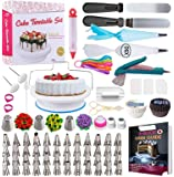 Cake Decorating Supplies Kit 2020 Newest 206 PCS Baking Set for Beginners with Cake Turntable Stand Rotating Turntable…