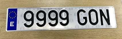 Matrícula Metálica Coche Homologadas 52X11 (2 Unidades): Amazon.es ...