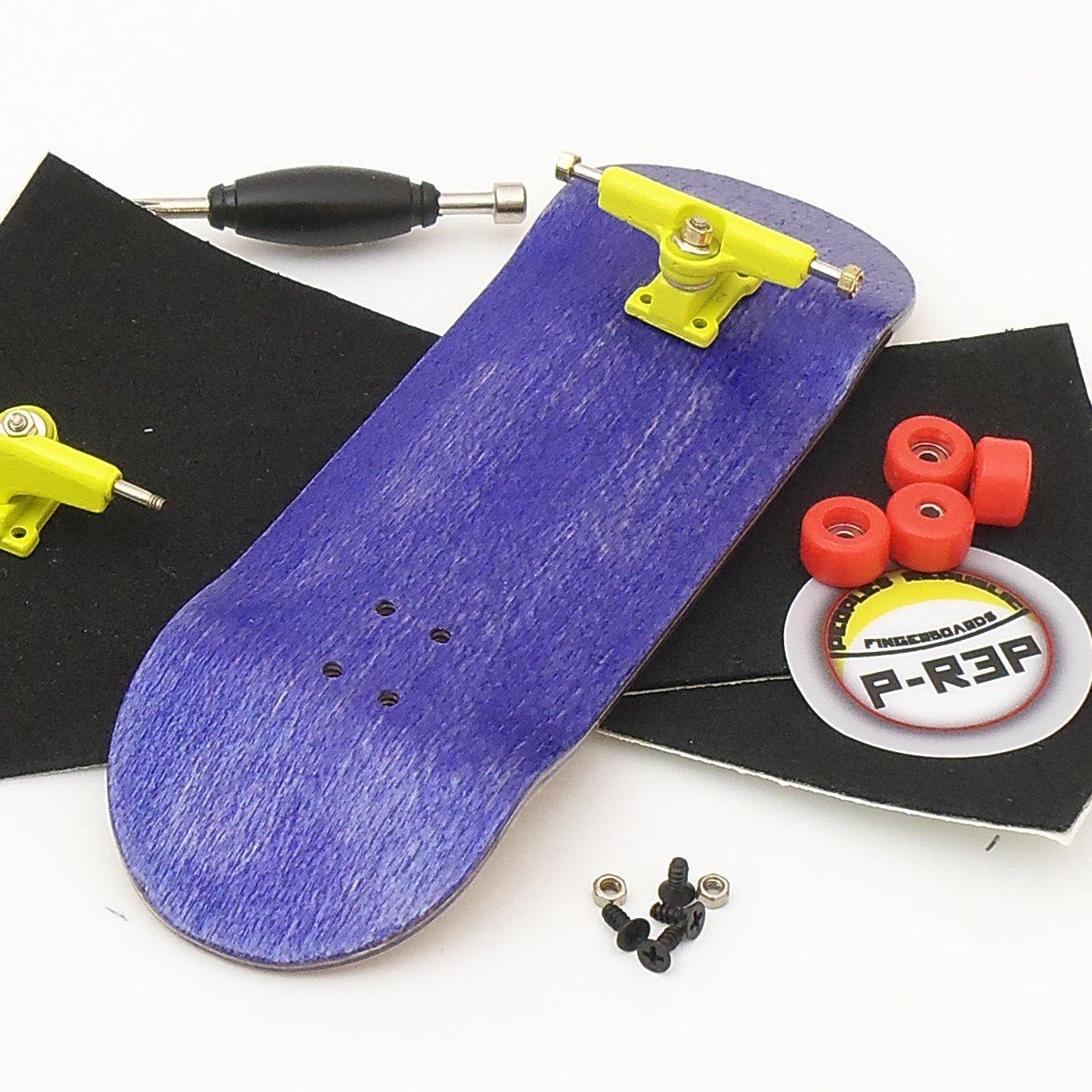 Peoples Republic 32mm Purple Complete Wooden Fingerboard w Nuts Trucks - Basic Bearing Wheels