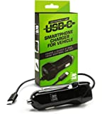 Super Fast 3.1 amp USB C Car Charger for Samsung Galaxy S9, S8, Note 8, Google Pixel 1, 2 & More Android USB Type C Cell Phones. Long Cord w/Extra USB Port, Plugs in Cigarette Lighter Adapter