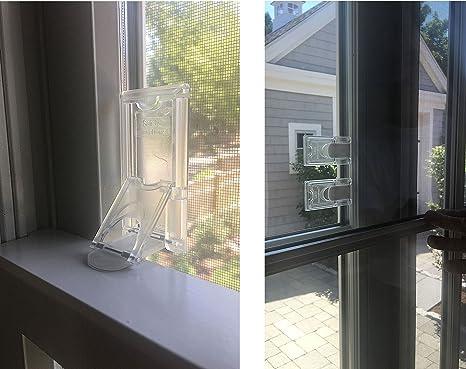 Safety Innovations - Cerradura de seguridad para ventanas y puertas correderas a prueba de niños (4 unidades): Amazon.es: Bebé
